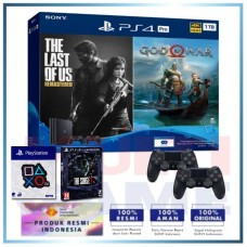 (Official) PS4 PRO 1TB Jet Black OM Bundle 2Game & 2DS4 +Wapen Logo OX +PS4 The Surge 2 Limited Edt.