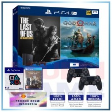 (Official) PS4 PRO 1TB Jet Black OM Bundle 2Game & 2DS4 +Wapen Logo OX +PS4 Shadow Of War Silver Edition