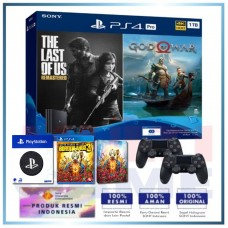 (Official) PS4 PRO 1TB Jet Black OM Bundle 2Game & 2DS4 +Wapen Logo PS +Game BorderLand 3 SteelCase Super Deluxe Edt.