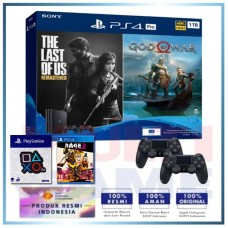 (Official) PS4 PRO 1TB Jet Black OM Bundle 2Game & 2DS4 +Wapen Logo OX +PS4 Rage 2 Deluxe Edition