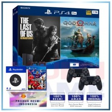 (Official) PS4 PRO 1TB Jet Black OM Bundle 2Game & 2DS4 +Wapen PS +PS4 PES 2020 (R2)
