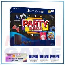 (Imlek) PS4 Pro 1TB Black Party Bundle 2Game + 2DS4