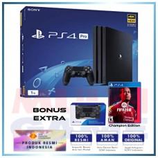 (PROMO 11.11) PS4 PRO 1TB Jet Black (Asia Version) + Extra DS4 Black & Game Fifa 20 Champion Edition