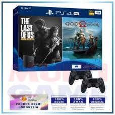 (Official) PS4 PRO 1TB Jet Black OM Bundle (TLOU & GOW) 2Game & 2DS4