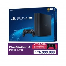 (Promo School Holiday) PS4 PRO 1TB (CUH-7106B) Jet Black (Asia Version) + Extra DS4 Black