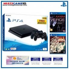 PS4 Slim 1TB Jet Black (2 DS4) + 2 GAMES (Guilty Gear & Axiom)