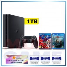 (Imlek) PS4 Slim 1TB PES 2020 Pro Evolution Soccer eFootball & God Of War