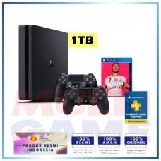 (11.11 PROMO) PS4 Slim 1TB Fifa 20 Bundle + Extra DS4 Black