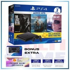 (11.11 PROMO) PS4 Slim 1TB (CUH-2218B) Hits Bundle (3 Games + PSN) + Extra DS4 Black