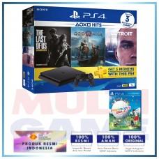 (Imlek) PS4 Slim 1TB Hits Bundle (3 Games + PSN) + Extra Game Every Bodys Golf