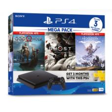 PS4 Slim 1TB Mega Pack #4 Ghost Of Tsushima (3 GAME +PSN) Bundling +Game