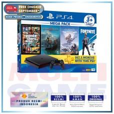 (Free Ongkir) PS4 Slim 1TB Mega Pack #2 (4 Games + PSN)