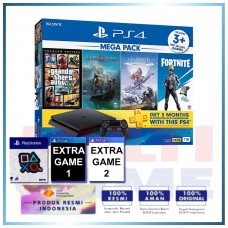 (Official) PS4 Slim 1TB Mega Pack #2 (4 Games + PSN) +Wapen Logo OX +2 Games