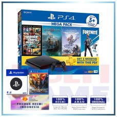 (Official) PS4 Slim 1TB Mega Pack (4 Games + PSN) +Wapen PS +PS4 Anthem Legion Of Dawn Edt.