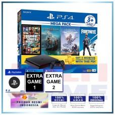 (Official) PS4 Slim 1TB Mega Pack #2 (4 Games + PSN) +Wapen Logo PS +2 Games