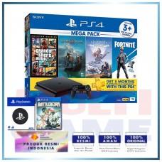 (Official) PS4 Slim 1TB Mega Pack (4 Games + PSN) +Wapen PS +PS4 BattleBorn