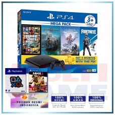 (Official) PS4 Slim 1TB Mega Pack (4 Games + PSN) +Wapen OX +PS4 Rage 2 Deluxe Edition