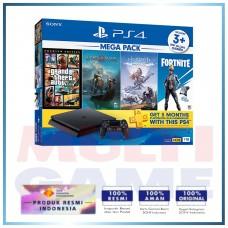 (Imlek) PS4 Slim 1TB Mega Pack #2 (4 Games + PSN)