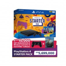 (Promo School Holiday) PS4 Slim 1TB Starter (Fifa+Overcooked2) + Extra DS4 Black + BD God Of War R3