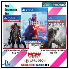 3in1 Battlefield V +Watch Dogs +Bloodborne