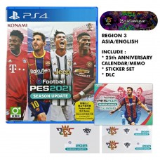 PES 2021 Pro Evolution Soccer eFootBall (DLC) Limited Konami 25th Anniversary Calender