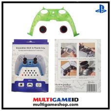 PS5 Dualsense Decorative Shell & Thumb Grip (Clear Green)