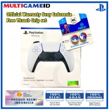 PS5 DualSense Wireless Controller (White) Free Thumb Grips FIFA BLUE