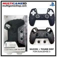 PS5 Dualsense Silicon +Thumb Grip (Black)