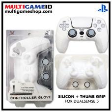 PS5 Dualsense Silicon +Thumb Grip (White)