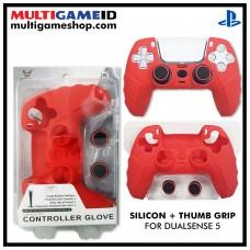 PS5 Dualsense Silicon +Thumb Grip (Red)