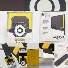 Pokemon Card Premium Leather & Magnetic Aclove Deck Box Yellow&Brown (UltraPro)