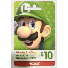 Nintendo eCard 10 USD (Fisik Card) (Ready)