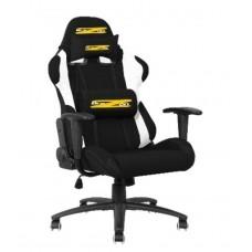 BraZen Shadow PRO Racing PC Gaming Chair (Black/White)