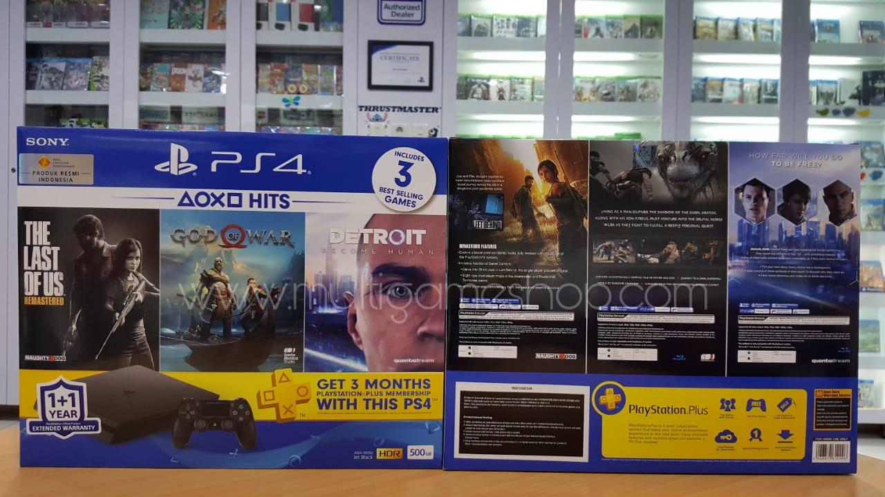 Ps4 Slim 500gb Hits 2018 Bundle Sony Playstation 4 Jet Black Region 3 Warranty Card Indonesia X 1
